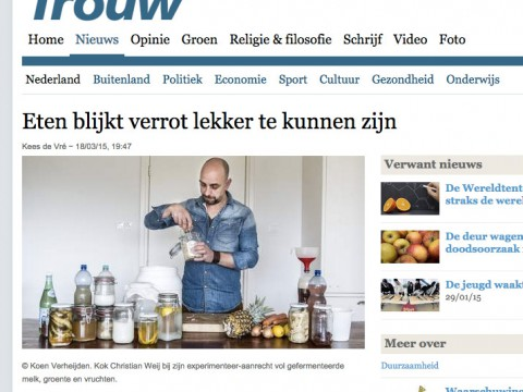 Artikel over Verrot lekker in de Trouw